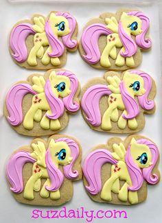 My Little Pony cookies...tutorial