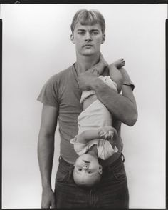Richard Avedon John Harrison, lumber salesman and his daughter Melissa, Lewisville, Texas (from the In the American West) November 11, 1981