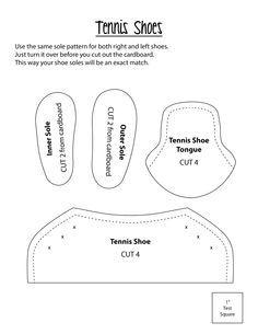 Free pattern. Regular Tennis shoes. Print at 100%