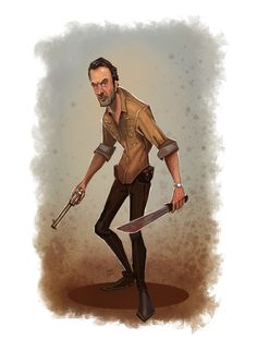 Rick Grimes - The Walking Dead - Illustrated By Brandon Pike