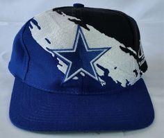 Dallas Cowboys Vintage Snapback Logo Athletic Splash Hat NFL Pro Line Cap  Nfl Pro c081a0d2f