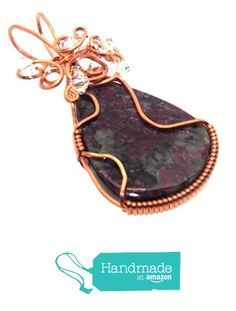 Eudialyte Gemstone Copper Wire Wrapped Pendant from Angelleesa Designs https://www.amazon.co.uk/dp/B01LXDUMM4/ref=hnd_sw_r_pi_dp_RXL7xbKRC7PQV #handmadeatamazon