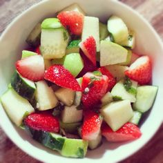 Strawberry Apple Cucumber Mint Salad.jpg #healthyeating