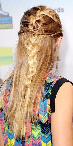 Kristen Bell lovely braid