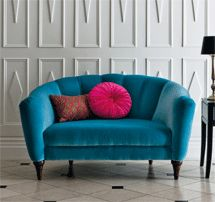 Romance Love seat, £799; Round Button cushion, £15; Geisha Beaded cushion, £29.50; Marks & Spencer, 0845 603 1603, www.marksandspencer.com.