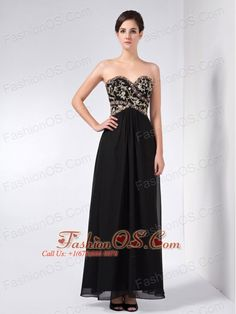 Custom Made Black Column Mother Of The Bride Dress Sweetheart Ankle-length  Chiffon Beading This. Evening Dresses For WeddingsFormal ... 4acc06879ef8