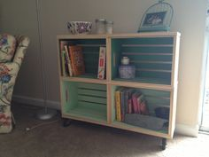 Diy Ombré Crate Bookshelf