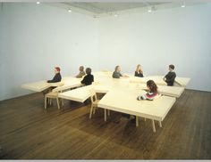 Two Too Large Tables - 2006 | Allan Wexler