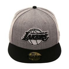 d6711654 Exclusive New Era 59Fifty Los Angeles Lakers Hat - 2T Heather Gray, Black, $