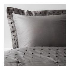 VINRANKA Housse de couette et taie IKEA Satin de coton tissé pour un linge de lit doux au toucher, avec un aspect soyeux pour agrémenter votre lit.