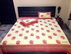 Handcrafted Rajasthani Print 100% Cotton Double Bed Sheet... http://www.amazon.in/dp/B01MU2Y85M/ref=cm_sw_r_pi_dp_x_m4Lxyb1W4XPT2