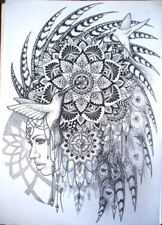 DeviantArt: More Like Hand drawn sacred geometry mandala in frame by Splund-Art