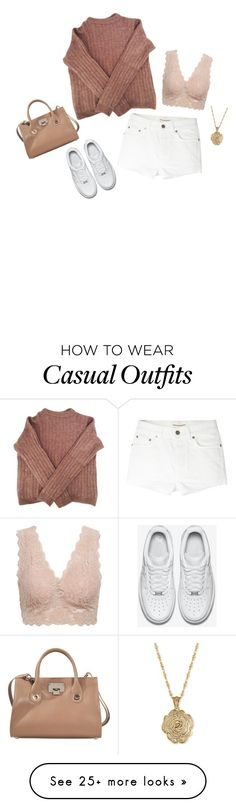 """casually beautiful"" by queenlei on Polyvore featuring Acne Studios, Yves Saint Laurent, NIKE, 2028 and Jimmy Choo"