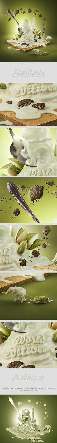 Yogurt advertising on Behance