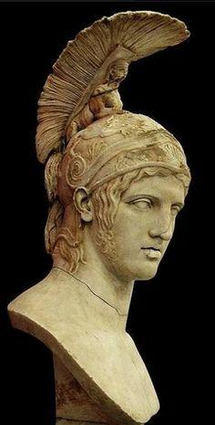 Mercury (Hermes) - detail, Roman statue (marble), copy ...