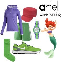 """""""Ariel goes running"""" by angiodancer on Polyvore"""
