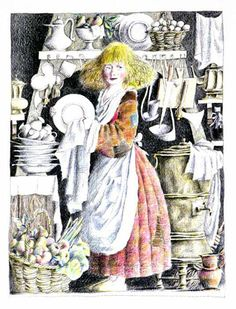 "Cinderella: Mikhail Bychkov, illustration for ""Fairy Tale""."