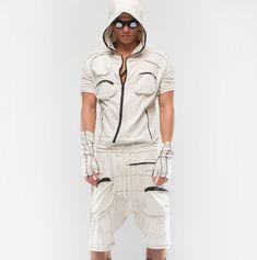 Demobaza-Men's Overall Ray : Ceiba SF Roll Up Sleeves, Overalls, Cotton, Shirts, Men, Shopping, Fashion, Moda, Fashion Styles