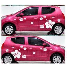 Items similar to 2 Sets Big Hibiscus Flowers Car Sticker Vinyl Decal on Etsy Truck Stickers, Bumper Stickers, Jeep Decals, Vinyl Decals, Kia Accessories, Moda Rock, Truck Paint, Beetle Car, Van Wrap