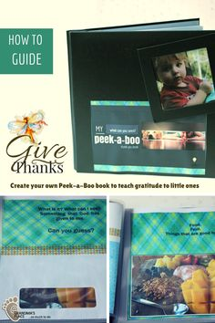 Make a simple Peek-a-Boo book that helps your little ones understand thankfulness.