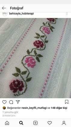 Folk Embroidery Cross Stitch Embroidery Embroidery Patterns Flower Patterns Table Runners Crochet Home Cross Stitch Flowers Cross Stitch Designs Diana Small Cross Stitch, Cross Stitch Needles, Cute Cross Stitch, Cross Stitch Rose, Cross Stitch Borders, Cross Stitch Flowers, Cross Stitch Designs, Cross Stitching, Cross Stitch Embroidery