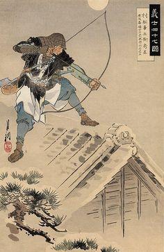 Gekko Ogata (b,1859)- Forty Seven Ronin (ukiyo-e woodblock print)