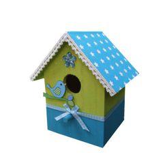 knutselpakket vogelhuisje blauw