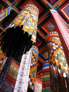 Draped with Pattern and Color - Tibet