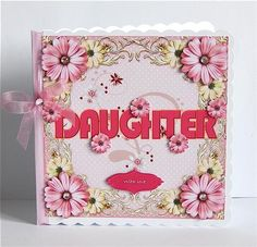- Quick decoupage card for a daughter. Large Flowers, Pink Flowers, Daughter Birthday Cards, Quick Cards, I Card, Handmade Cards, Decoupage, Larger, Card Making