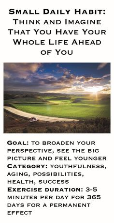 See the big picture and feel younger