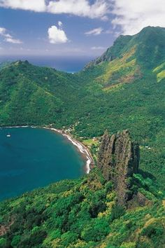Nuku Hiva may be the most important island in the Marquesas, as it is the governmental and economic center of the islands. It's also stunningly beautiful, with three major bays on the south coast and similarly gorgeous inlets on the north coast as well.    Photo courtesy of Paul Gauguin Cruises.