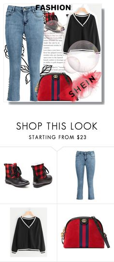 """""""Shein contest"""" by aida-847 ❤ liked on Polyvore featuring Jambu and Gucci"""