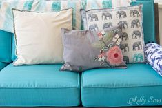 Make a DIY outdoor sofa from plywood - love the minimalist lines! - Melly Sews