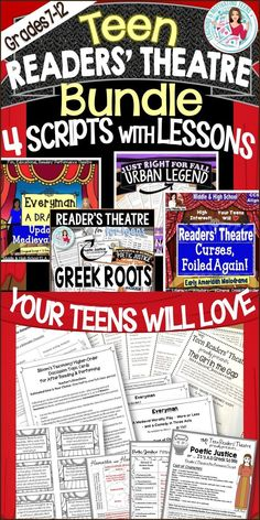 A mini-unit teaching Greek root words and literary concepts (such as hamartia, hubris, poetic justice, etc. Lots of fun and learning opportunities. Root Words, Readers Theater, Poetic Justice, The Middle, Teaching Resources, Teaching Ideas, Middle School, Script, Vocabulary Strategies