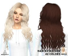 Miss Paraply: Hair retexture - Sintiklia Britney - 42 colors • Sims 4 Downloads