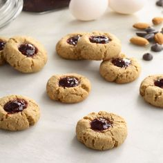 How about some Rasberry Chocolate Thumbprints for holidays! (but good year around)