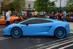 Blue Lamborghini Gallardo Blue Lamborghini, Lamborghini Gallardo, Supercars, Baby Blue, Beautiful, Super Car, Exotic Sports Cars