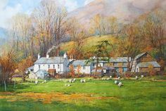 Ian Ramsay Watercolors: October 2014. Farm, Coniston, Lake District , England