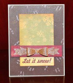Let it snow! card by Darla Weber #CosmoCricket
