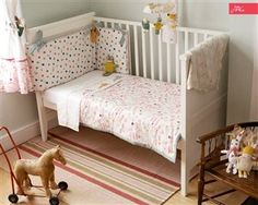 Baby Joules Madhatter nursery bedding set Hippins for baby gifts nursery furniture and childrens curtains & bedding Cot Bed Bumper, Baby Bumper, Bed Bumpers, Girls Cot Bedding, Nursery Bedding Sets, Baby Bedding, Childrens Curtains, Childrens Beds, Cot Bed Quilt
