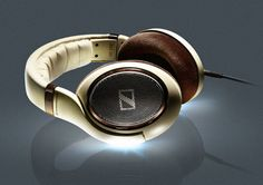 Oh Yeah : ) Sennheiser Audiophile Headphones with Burl Wood Accents