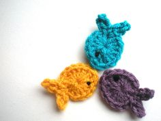 free crochet pattern, fish applique, patch, swellamy