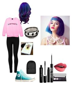 """""""going to a melanie martinez concert"""" by calumhoodgirl ❤ liked on Polyvore featuring Wolford, Converse, Marc Jacobs, Urban Decay and Rains"""