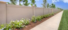precast concrete fence walls by permacast in sarasota florida - Modern Design Fence Wall Design, Front Wall Design, Modern Fence Design, Concrete Fence Wall, Concrete Block Walls, Precast Concrete, Boundry Wall, Compound Wall Design, Modular Walls