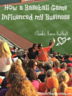 How a Baseball Game Influenced my Business - Food and Happiness by Kim Denne