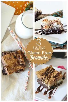 #GlutenFree Brownies 3 Ways by @Wendy   Around My Family Table