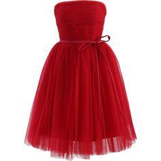 jr girls knee length red dresses