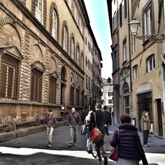 On the street. Antique Lucca city. Toscana. Italy
