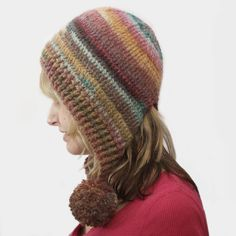 Simple Pompom Hood, pattern for purchase