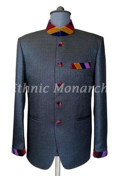 Stunning colourfull Neck Jodhpuri Coat
